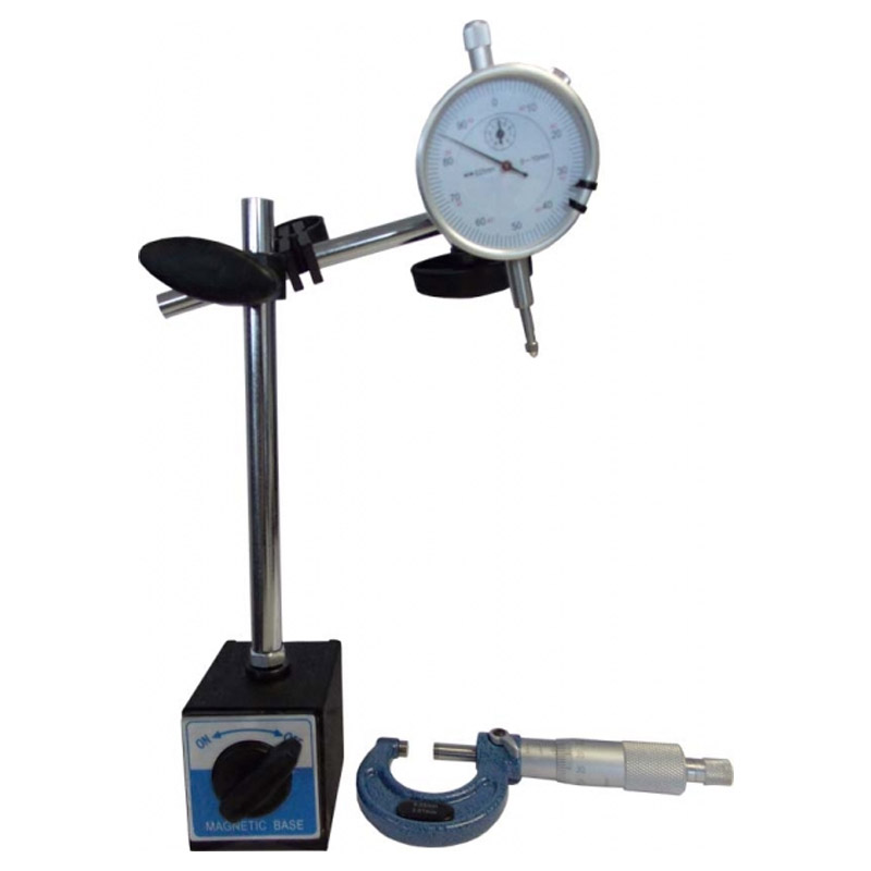 Disc Run-Out Measuring Kit c/w Micrometer & Magnetic Base