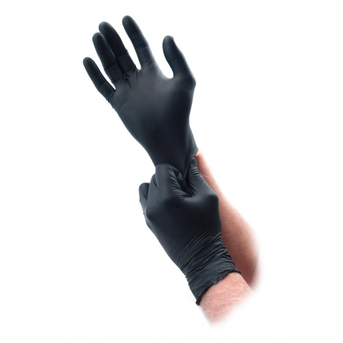 Microflex Black Nitrile Disposable Gloves